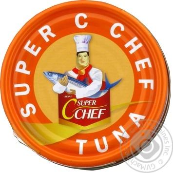 Тунец Super C Chef стейк в собственном соку 185г