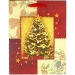 Пакет бумажный Happycom рождественский XGBMB 18х22см