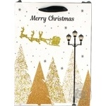 Пакет бумажный Хеппиком рождественский XGBM11A 18х22см