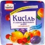Кисіль зі смаком фруктового асорті Караван брикет 170г