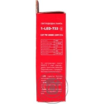 Лампа світлодіодна Maxus 1-LED-733 C37 7W 3000K 220V E14 - купить, цены на Novus - фото 2
