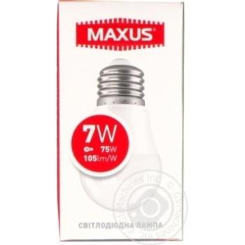 Лампа світлодіодна Maxus 1-LED-746 G45 7W 4100K 220V E27 - купить, цены на Novus - фото 1
