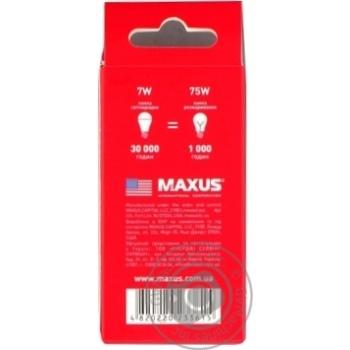 Лампа світлодіодна Maxus 1-LED-746 G45 7W 4100K 220V E27 - купить, цены на Novus - фото 2