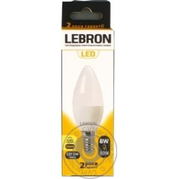 Лампа Lebron L-С37,8W,Е14,3000K,700Lm - купить, цены на Novus - фото 1