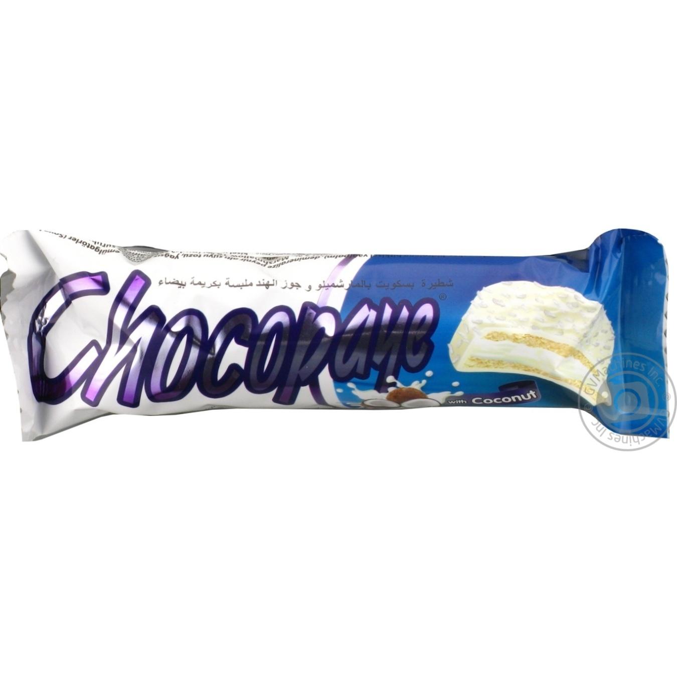 Купить 2660, Печенье в белой глазури Chocopaye с маршмеллоу и кокосовой стружкой 57г