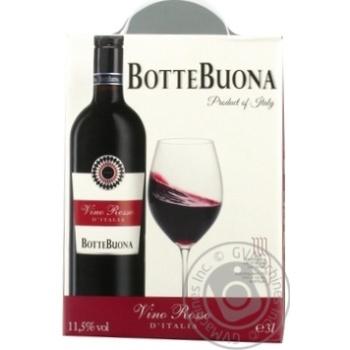 Вино Botte Buona Vino Rosso D`Italia красное полусухое 11,5% 3л