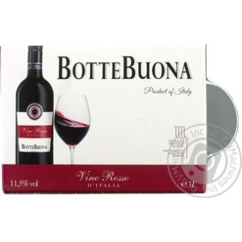 Вино Botte Buona Vino Rosso D`Italia червоне напівсухе 11,5% 3л - купити, ціни на Varus - фото 2
