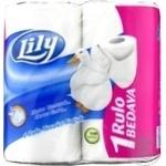 Туалетная бумага Lily 2 слоя 4шт