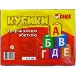 Tiki Cubes with Ukrainian Alphabet Table Game