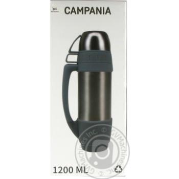 Термос Bergamo 1,2л графітовий - купити, ціни на МегаМаркет - фото 1