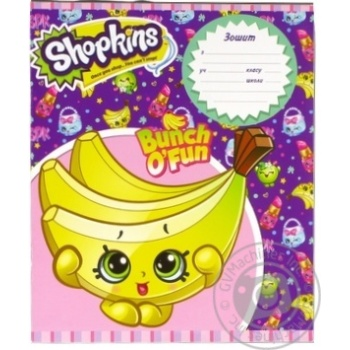 Shopkins school notebook box 18 sheets