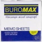 Блок паперу для нотаток BuroМax несклеїних Декор 500аркушів 90*90
