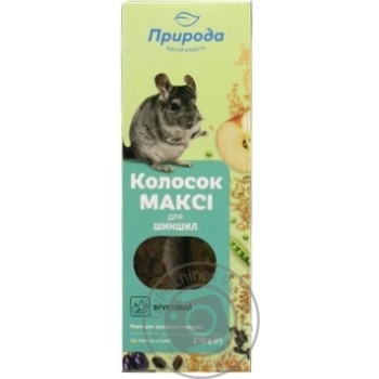 Food Pryroda Kolosok dry for rodents 210g cardboard box - buy, prices for Auchan - photo 1