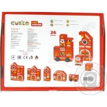 Cubika Wooden Constructor Fire station 26pcs. - buy, prices for MegaMarket - image 2