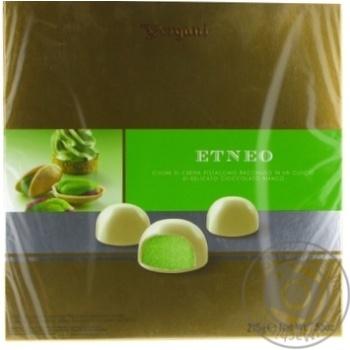 Конфеты Vergani Etneo с начинкой из фисташкового крема в белом шоколаде 215г - купить, цены на Novus - фото 1