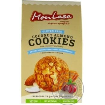 Печиво Mona Lisa Кокосово-мигдальне безглютенове 120г - купити, ціни на МегаМаркет - фото 1