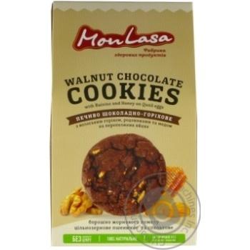 Печенье Mon Lasa Шоколадно-ореховое 120г - купить, цены на МегаМаркет - фото 1