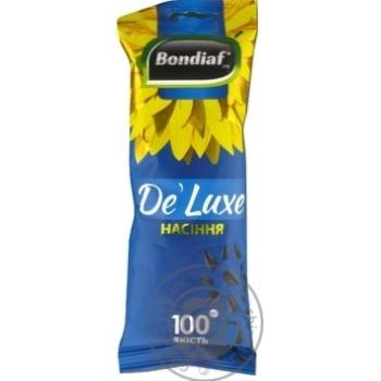 Семена подсолнечника Bondiaf De' Luxe неочищенные жареные 100г