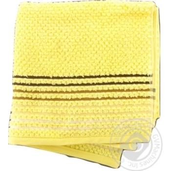Полотенце Yanatex махровое желтое 50x90см