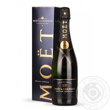 Шампанское Moёt&Chandon Nectar Imperial белое полусухое 12% 0,75л - купить, цены на Novus - фото 1