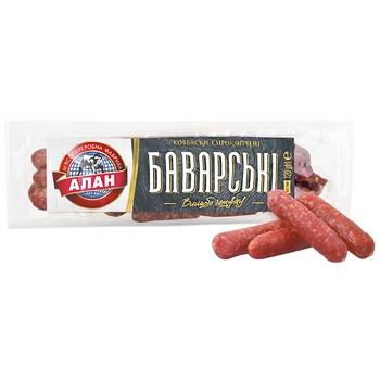 Ковбаски Алан Баварські сирокопчені в/г 120г - купити, ціни на CітіМаркет - фото 1